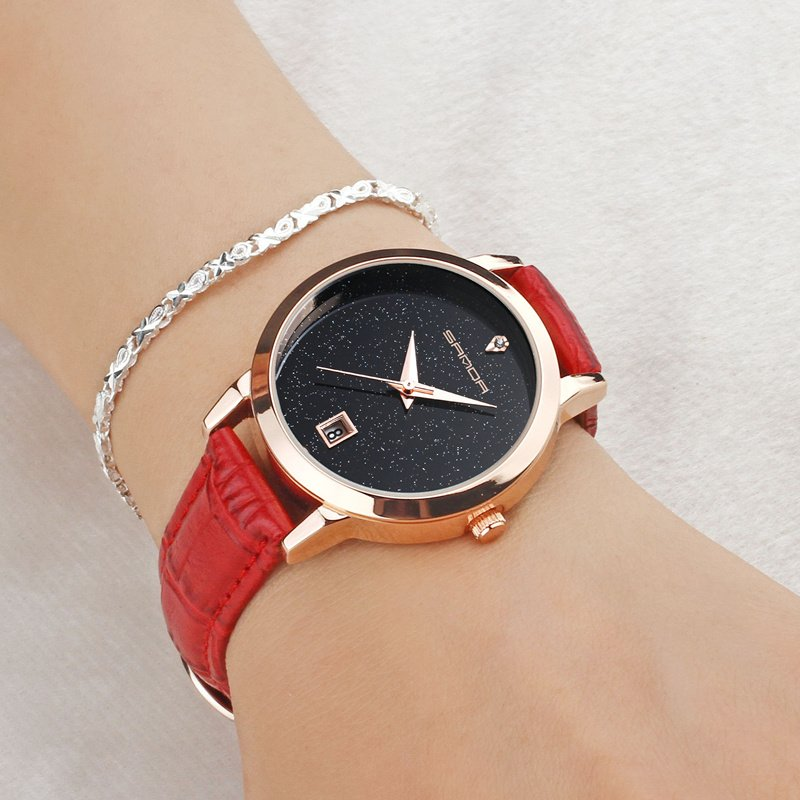 Zegarek Sanda Jane czerwony 10