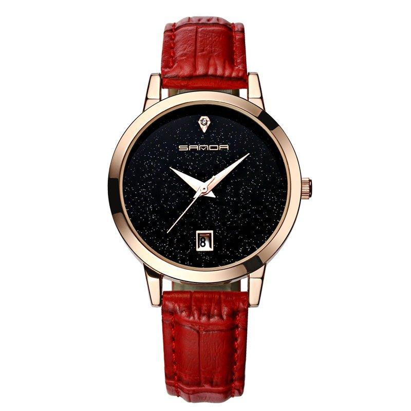 Zegarek Sanda Jane czerwony 11