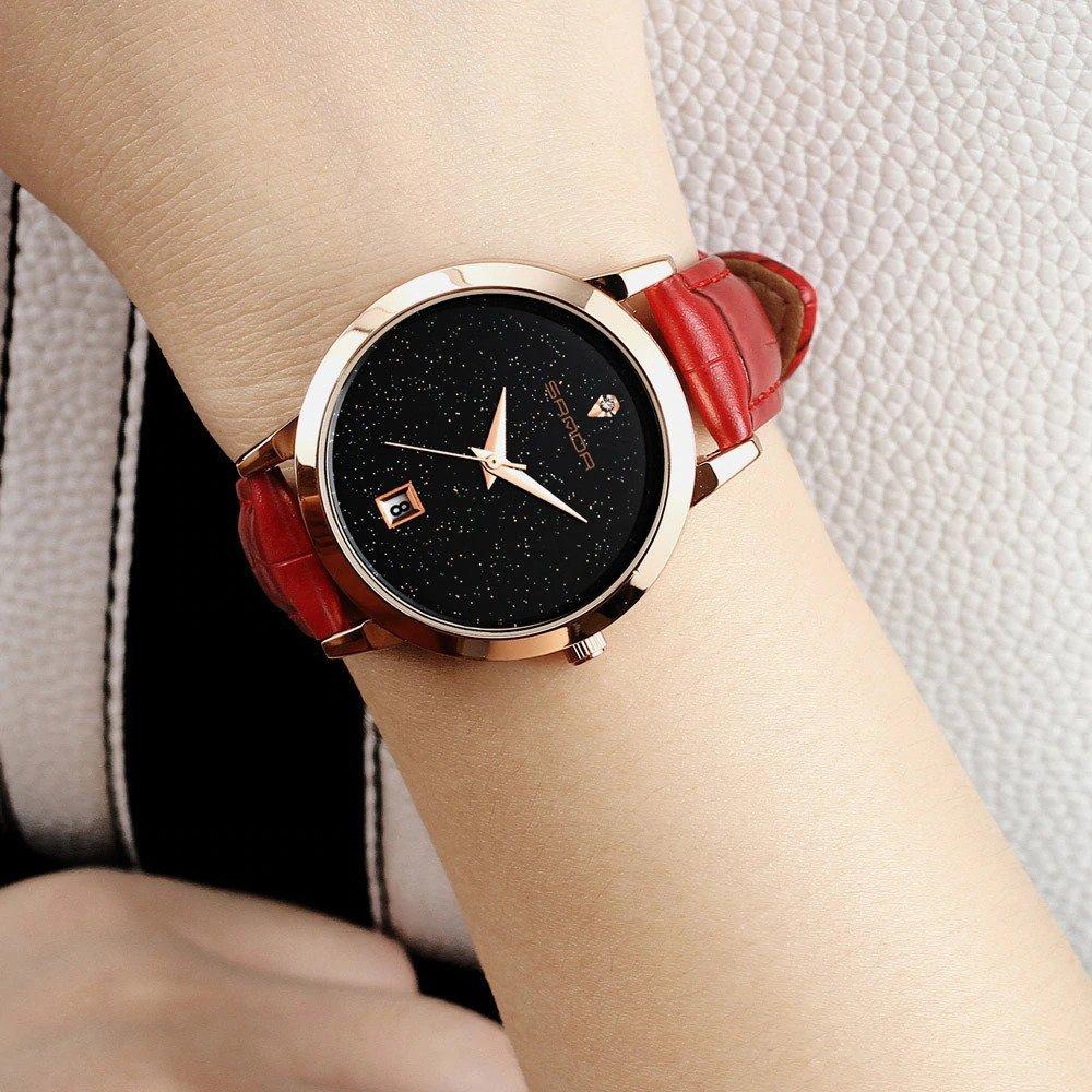 Zegarek Sanda Jane czerwony 12
