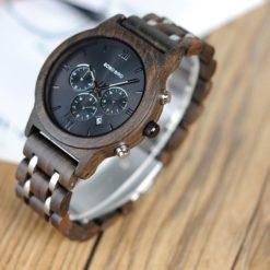 Zegarek drewniany Bobo Bird Lux Dark P19-1 2