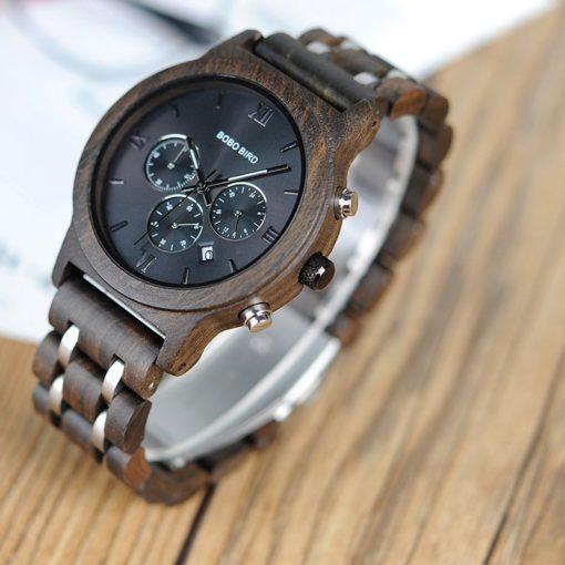 Zegarek drewniany Bobo Bird Lux Dark P19-1
