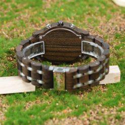 Zegarek drewniany Bobo Bird Lux Dark P19-1 3
