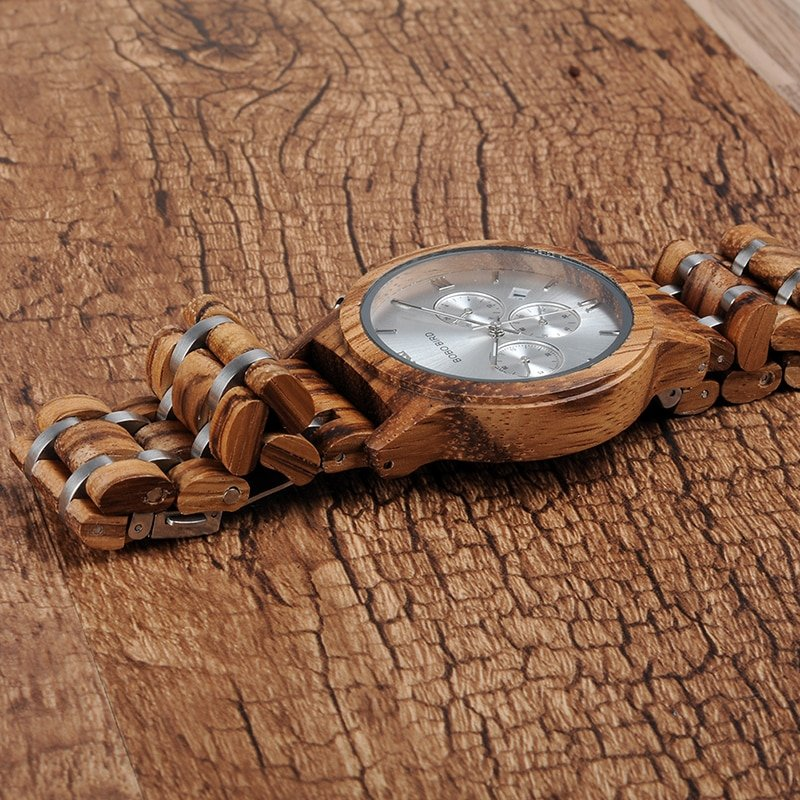 Zegarek drewniany Bobo Bird Lux Light P19-2 6