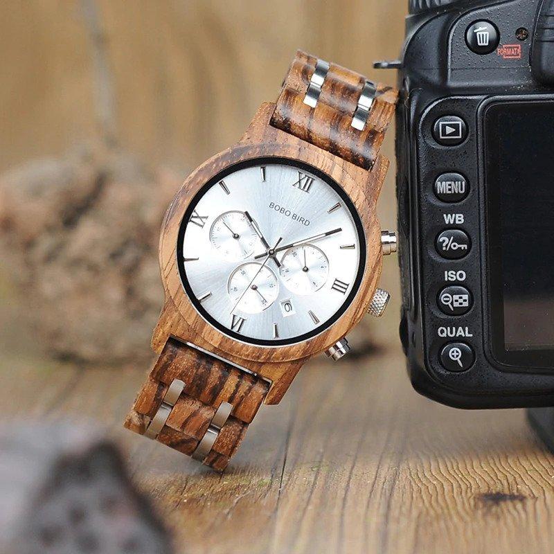 Zegarek drewniany Bobo Bird Lux Light P19-2 7