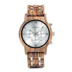 Drewniany zegarek Bobo Bird Lux Light P19-2