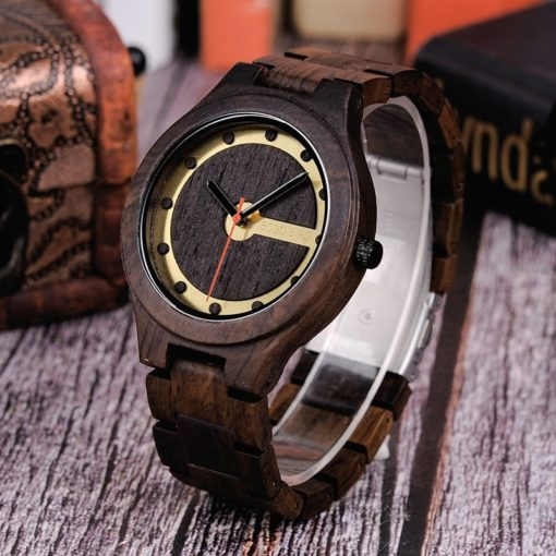 Zegarek drewniany Bobo Bird Holz Dark Q09-2