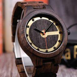 Zegarek drewniany Bobo Bird Holz Dark Q09-2 2