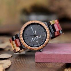 Zegarek drewniany Bobo Bird Rainbow Data P14-1 3