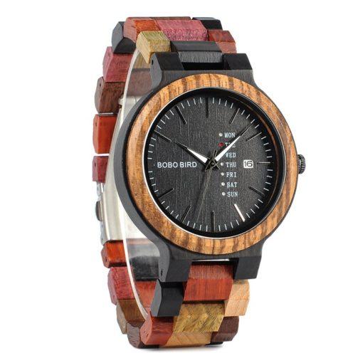 Zegarek drewniany Bobo Bird Rainbow Data P14-1