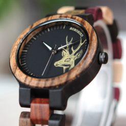 Zegarek drewniany Bobo Bird Rainbow Pic P14-3 2