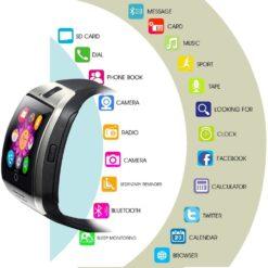 Smartwatch wielofunkcyjny czarny 1