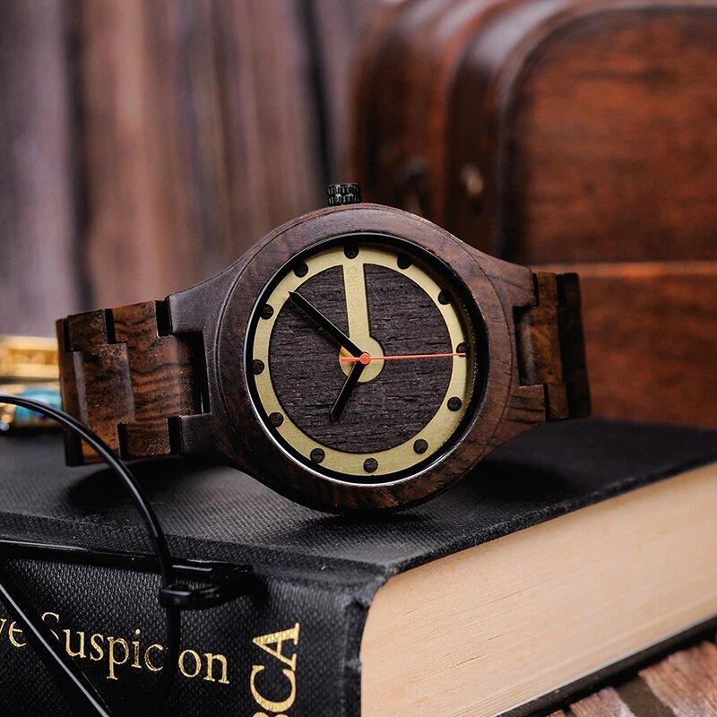 Zegarek drewniany Bobo Bird Holz Dark Q09-2 6