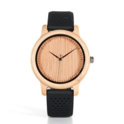 Drewniany zegarek Bobo Bird Silikon Black B08