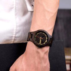 Zegarek drewniany Bobo Bird Holz Dark Q09-2 4