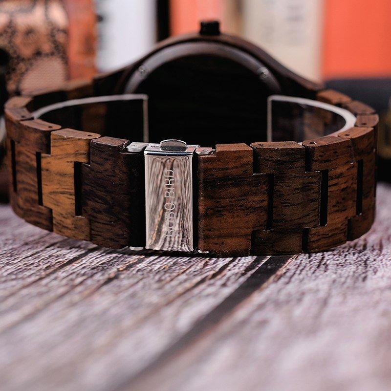 Zegarek drewniany Bobo Bird Holz Dark Q09-2 8