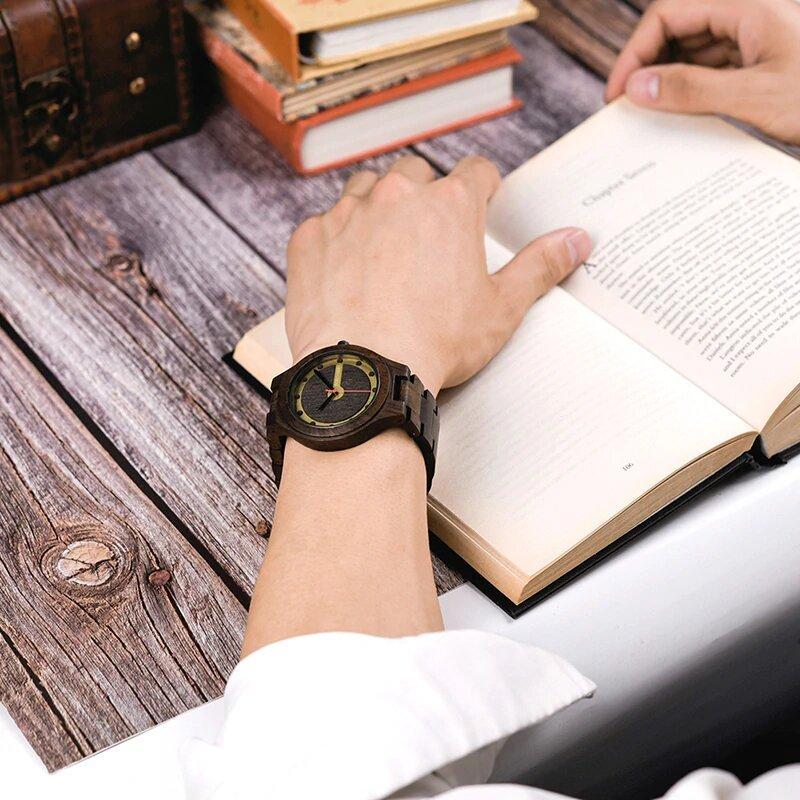 Zegarek drewniany Bobo Bird Holz Dark Q09-2 10