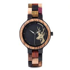 Zegarek drewniany Bobo Bird Rainbow Pic P14-3