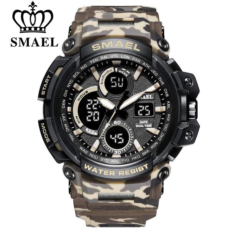Zegarek Smael Hunter V1 khaki moro 6