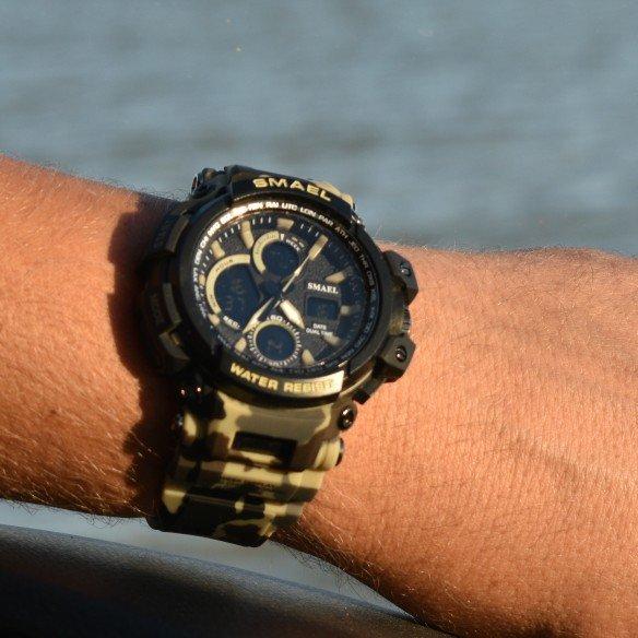 Zegarek Smael Hunter V1 khaki moro 8