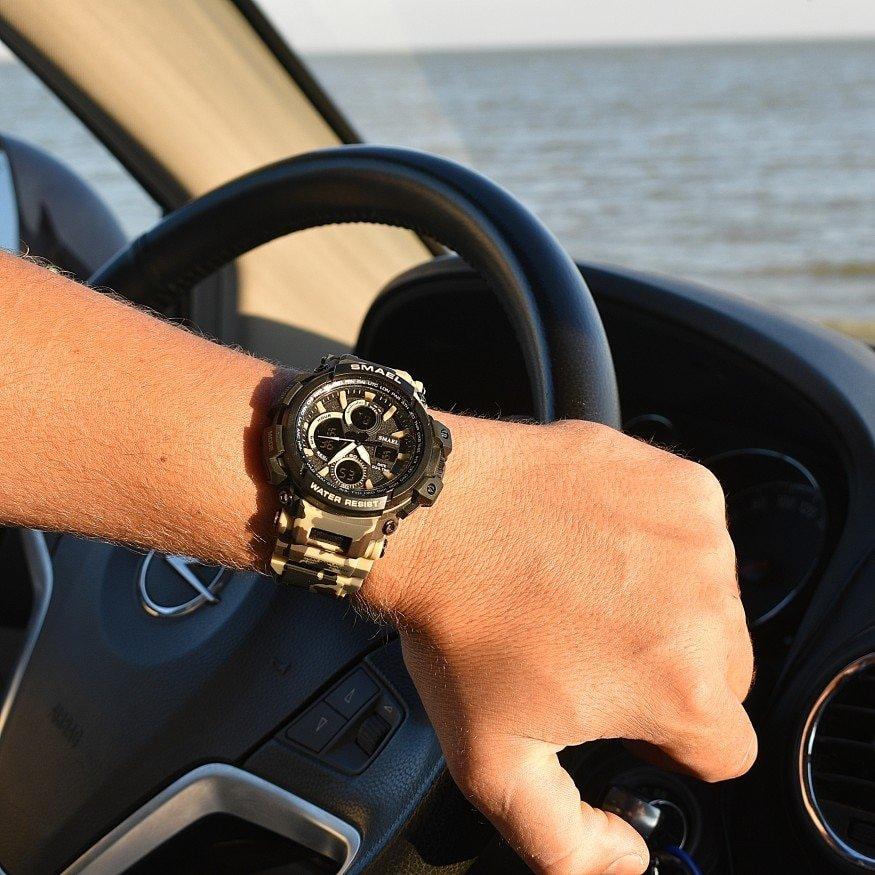 Zegarek Smael Hunter V1 khaki moro 9