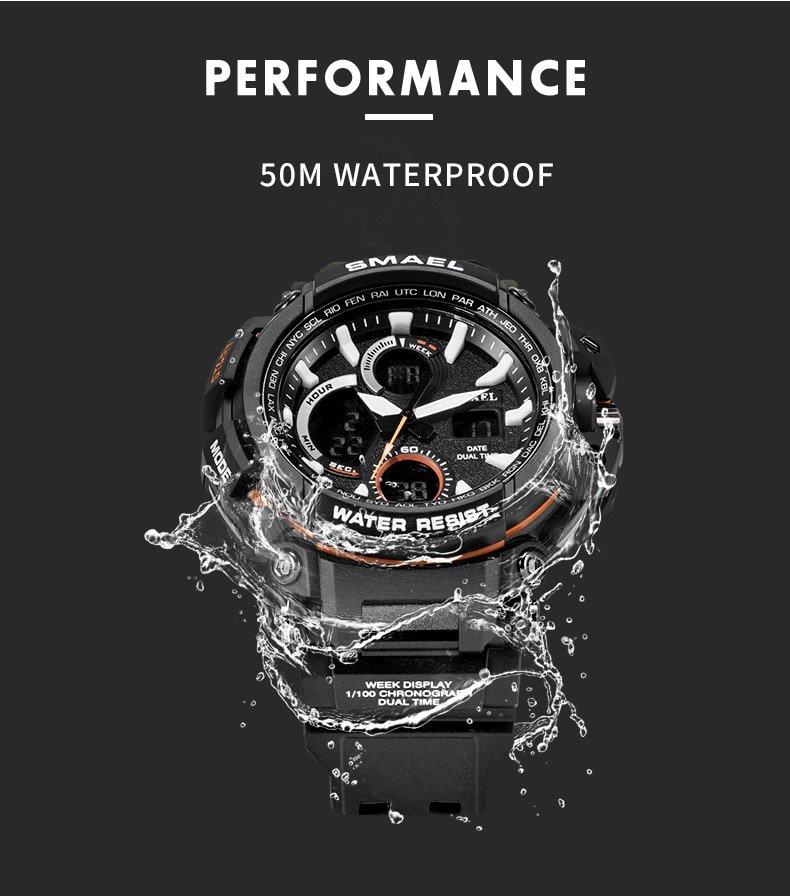 Zegarek Smael Hunter V1 czarny 12