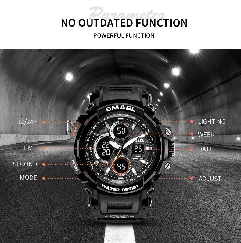 Zegarek Smael Hunter V1 czarny 13