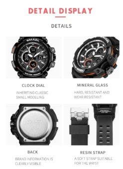 Zegarek Smael Hunter V1 czarny 8