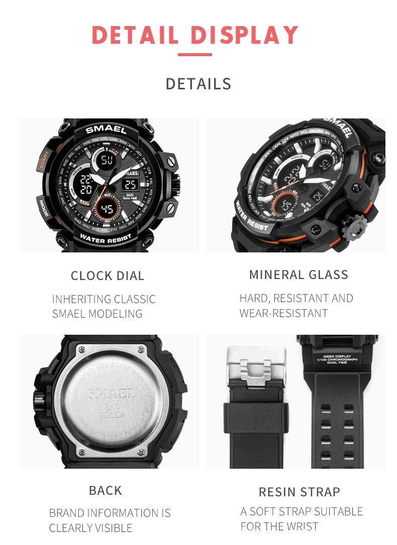 Zegarek Smael Hunter V1 czarny 14