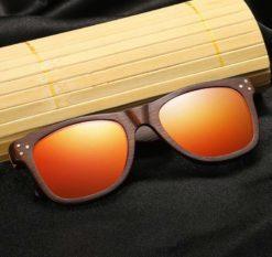 Drewniane okulary przeciwsłoneczne B01-pomarańczowe - bambus 3