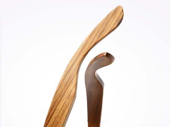 okulary z drewna zebrano detal 1