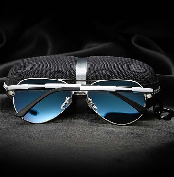 Okulary przeciwsłoneczne aluminiowe M03- niebieskie 9