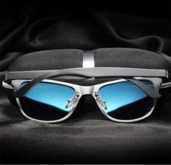 Okulary przeciwsłoneczne aluminiowe M04- niebieskie 3