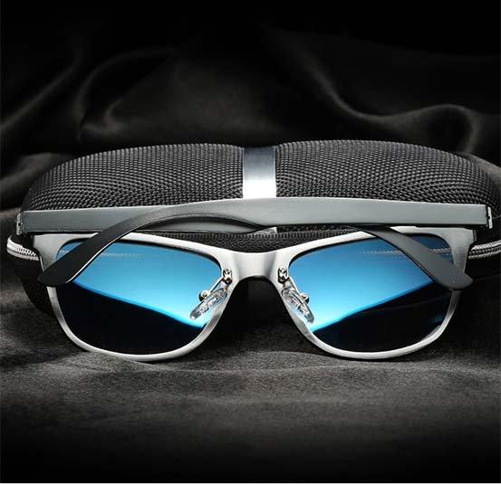 Okulary przeciwsłoneczne aluminiowe M04- niebieskie 13