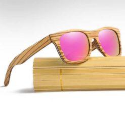 Drewniane okulary przeciwsłoneczne B05- fioletowe - zebrano 2