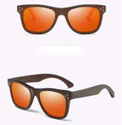 Drewniane okulary przeciwsłoneczne B01-pomarańczowe - bambus 2