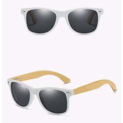 Drewniane okulary przeciwsłoneczne C03- czarne – bambus