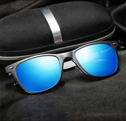 Okulary przeciwsłoneczne aluminiowe M04- niebieskie 4