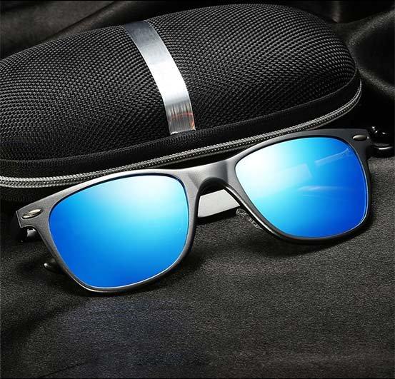 Okulary przeciwsłoneczne aluminiowe M04- niebieskie 14