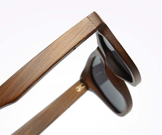 Drewniane okulary przeciwsłoneczne B01-czarne - bambus 8