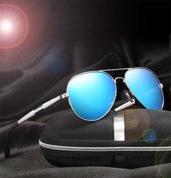 Okulary przeciwsłoneczne aluminiowe M03- niebieskie 2