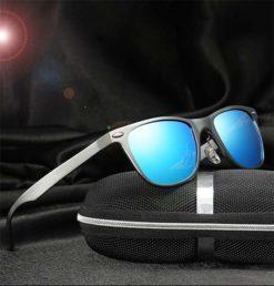 Okulary przeciwsłoneczne aluminiowe M04- niebieskie 5