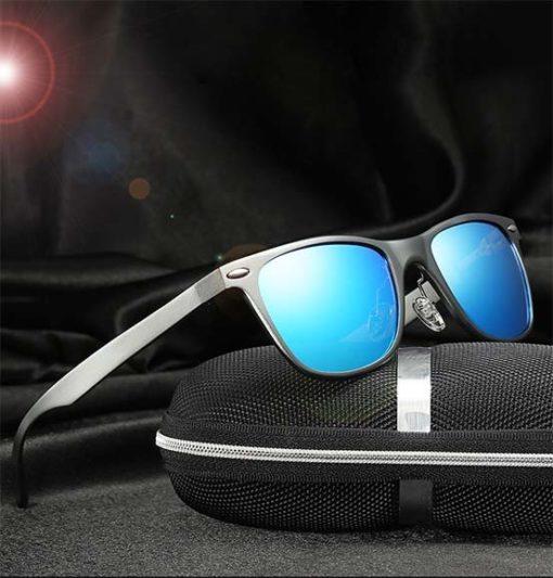 Okulary przeciwsłoneczne aluminiowe M04- niebieskie