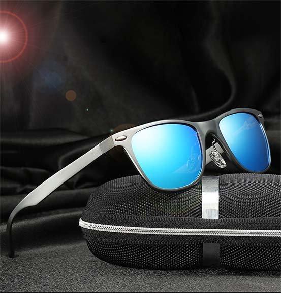 Okulary przeciwsłoneczne aluminiowe M04- niebieskie 15