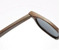 Drewniane okulary przeciwsłoneczne B01-czarne - bambus 1