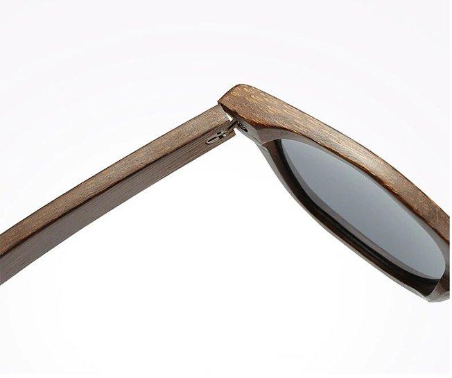 Drewniane okulary przeciwsłoneczne B01-czarne - bambus 10