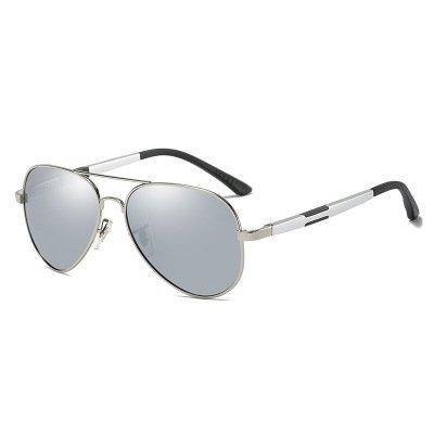 Okulary przeciwsłoneczne aluminiowe M03- srebrne