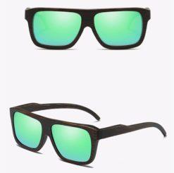 Drewniane okulary przeciwsłoneczne B04- Zielone – bambus