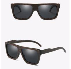 Drewniane okulary przeciwsłoneczne B04- czarne – bambus