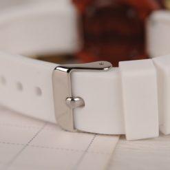 Zegarek drewniany Bobo Bird Round R28-2 Biały