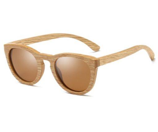 Drewniane okulary przeciwsłoneczne B08- brązowe – dąb